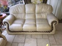 Leather Sofas (Italian leather) 3 seater and 2 seater and 1 seater