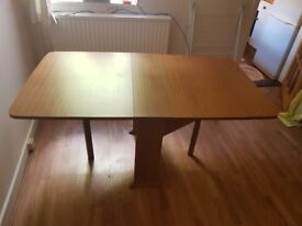 Fold up dining table and 4 chairs