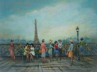 Signed oil on canvas painting by listed French artist Michel Pabois