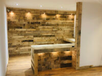 Rustic Reclaimed Pallet Wood Wall Cladding - UK's #1 Cladding Supplier