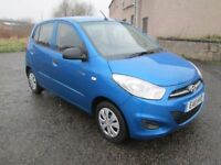 HYUNDAI I10 BLUE *** FULL 12 MONTHS MOT*** NO ADVISORIES *** £30 ROAD TAX *** 50MPG ***
