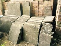 RECLAIMED SANDSTONE- SLABS/PIECES/FLAGS LANDSCAPING APPROX 80 METRES