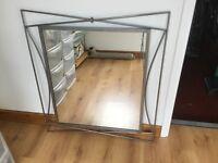 Crome design wall mirror