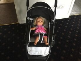 Dolls Silver Cross pushchair - collapsible (doll not included)