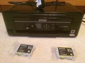 Epson Stylus SX435W printer - fully functional with 2 spare cartridges