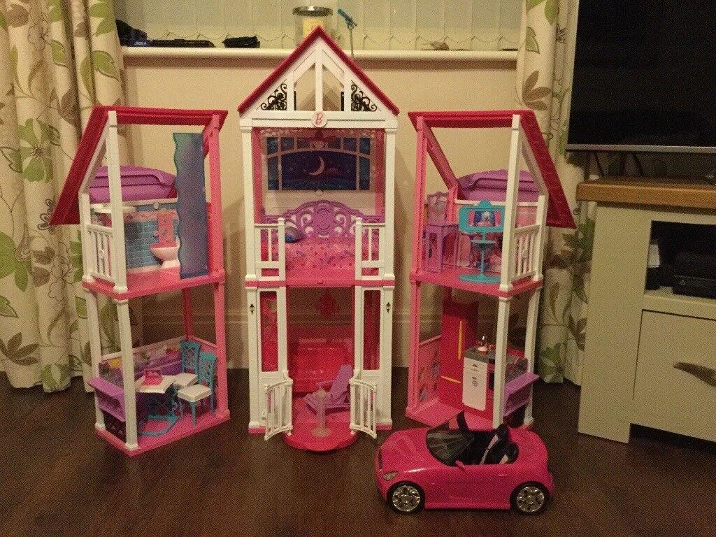 Barbie California Dreamhouse & Barbie convertible Car