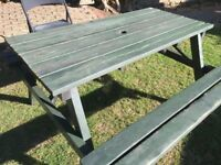 Solid Oak Traditional Pub - Picnic Bench's - Very Solid and Stable
