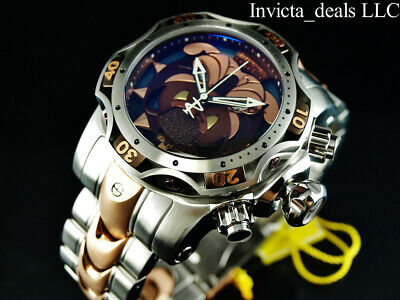 Invicta Mens Reserve 52mm Venom Gen III BULLDOG SWISS Chrono Rose Two Tone -
