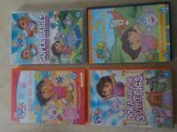 4 x Dora the Explorer DVDs - £1 each - Collect PE27