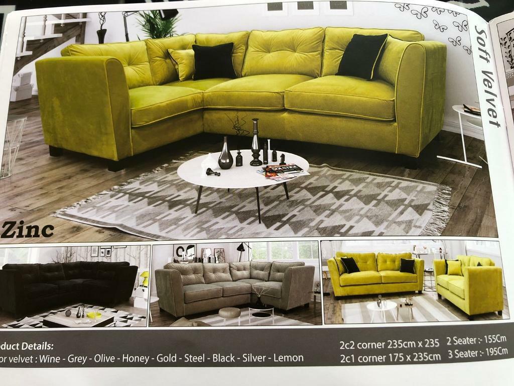 sale retailer 6b132 c0396 Brand new soft velvet corner sofa 's | in Bolton, Manchester | Gumtree