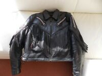Ladies Motorcycle Leather Jacket.