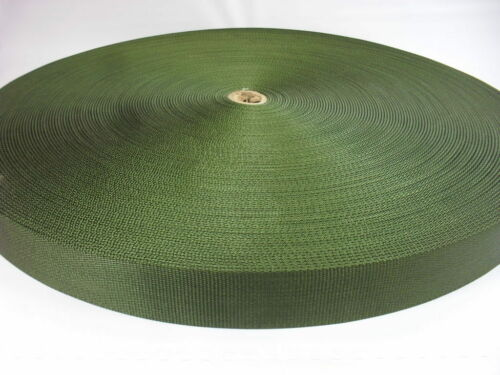 10 yards of 1 3/4 military type super heavy nylon webbing  OD green abt 3mm