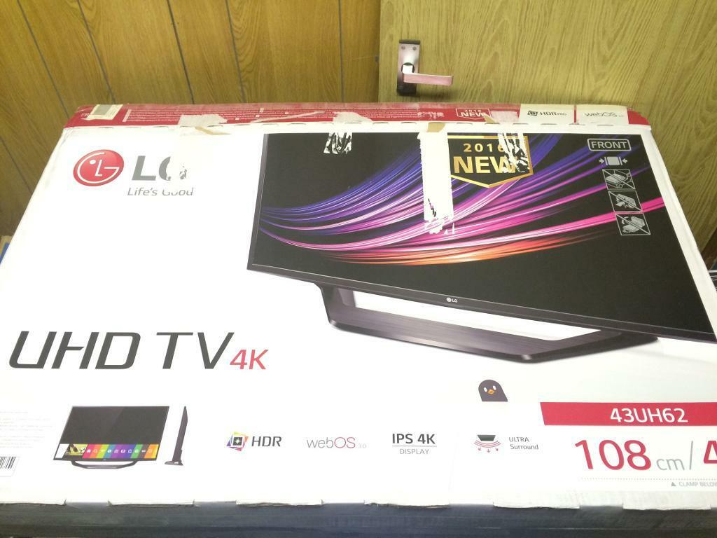 """New LG 43"""" 2016 Model Tv bargain free delivery boxed"""