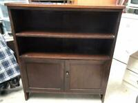Solid oak 2 door bookcase FREE DELIVERY PLYMOUTH AREA