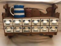 Country kitchen vintage pine herb shelf rack