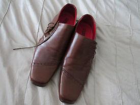 Rich CHESTNUT coloured gents shoes TOP SHOP size 46 (uk 11/12)