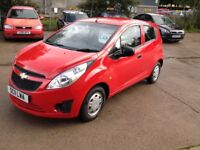 11 PLATE CHEVVY SPARK+ 5DR 61000MILES FSH £30ROAD TAX 50+MPG £2500