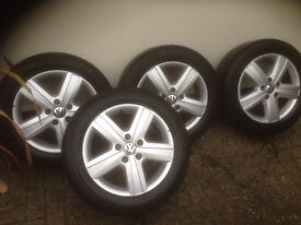 "VW T5 Original 17"" Alloy Wheels & Tyres"