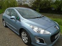 Peugeot 308 active 1.6 diesel ,12months MOT, F.D.S.H. £30 road tax , Very Economical