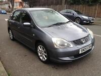 2005 HONDA CIVIC 1.7 CDTI DIESEL WITH 1 YEAR MOT AND TAX QUICK SALE