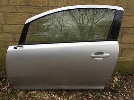 Vauxhall Corsa D VXR Silver Passenger Side N/S Door