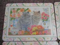 Cat Placemats x 6