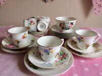 Mix & Match Vintage China Cups, Saucers, Plates, Tea-Sets
