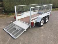 Indespension 9'x4' Twin Axle Plant Trailer with Mesh Sides and Loading Ramp *NO VAT* Ifor Williams