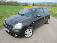 Renault Clio Campus Sport 1.2 16V 2005 Well Maintained with Recent T/ belt. LONG MOT, NOW ONLY £1275