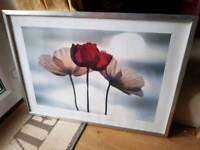 Ikea frame with poppies