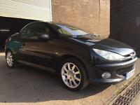 2003 PEUGEOT 206CC CONVERTIBLE BLACK FULL LEATHER *2018 MOT & SERVICE HISTORY*