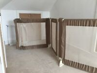 Extendable baby security gate