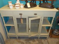 Antique Edwardian Painted Solid Wood Sideboard