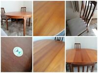 Mcintosh Mid Century Teak Dining table and 4 chaird
