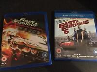 Fast and furious 1-6 blue ray dvd