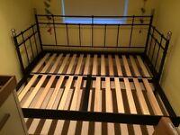 SVELVIK Ikea double sofa bed with 2 SULTAN FONNES Ikea mattresses