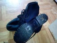 Size 7 black lace up boots