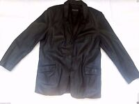 Woodland Men's Real 100% Leather Blazer
