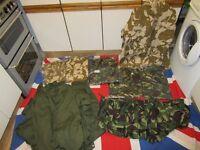 Job lot British Army Military Jackets & Overalls