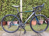 Boardman CX Team 55.5cm (large), upgraded brakes, additional tyres and rack