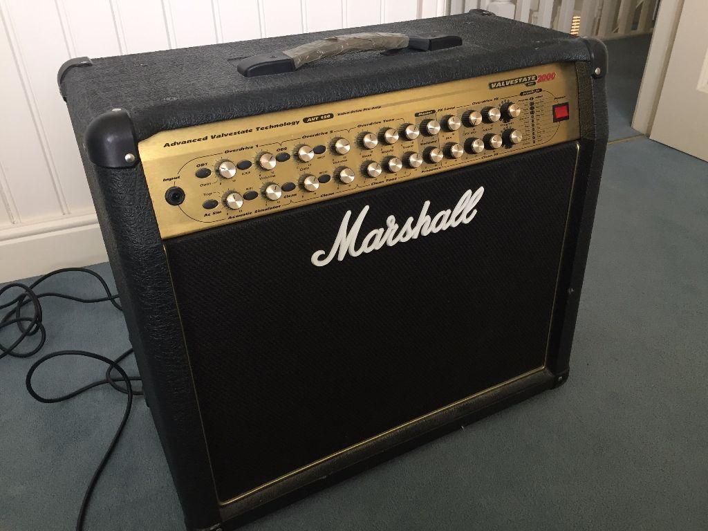 marshall valvestate 2000 avt 150 guitar amp with marshall footswitch pedal in knaresborough. Black Bedroom Furniture Sets. Home Design Ideas