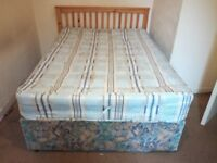 double bed for sale great one its very comfortable mattress it has to go tomorrow morning