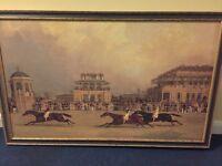 Horse racing prints.