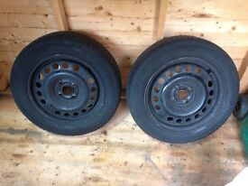 2 x 185/60x15 Continental tyres