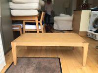 HABITAT oak coffee table