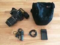 Nikon d3100 + 18-55mm lense. Lowepro case, shutter release and USB charger for sale  Wimbledon, London
