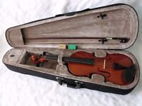 Windsor Full Size 4/4 Student Violin Outfit with Zipped Case & Shoulder Strap