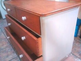 Vintage Chest of Drawers Dressing Table Shabby Chic (£50 this week!)