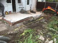 Mini & micro digger hire garden and fencing service