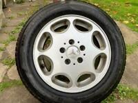 """MERCEDES CLASSIC 15"""" ALLOY WHEEL WITH TYRE"""